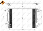 Радиатор кондиционера NRF 350028