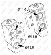 Расширительный клапан кондиционера NRF 38417