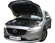 Амортизаторы капота (газовые упоры капота) Euro-Upor EU-MA-6-03r-2 для Mazda 6 (GJ) 2018+ (2шт)
