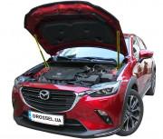 Амортизаторы капота (газовые упоры капота) Euro-Upor EU-MA-CX3-01-2 для Mazda CX-3 (2017+) 2шт