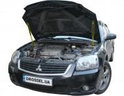 Амортизаторы капота (газовые упоры капота) Euro-Upor EU-MI-GAL-09-2 для Mitsubishi Galant 9 (2003-2012) 2шт