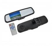Зеркало заднего вида с монитором и видеорегистратором Swat VDR-TY-02