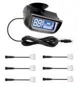 Парктроник ParkMaster 6-DJ-29 для заднего и переднего бампера с LCD-дисплеем