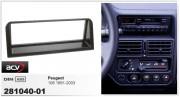 Переходная рамка ACV 281040-01 для Peugeot 106 1991-2003, 1DIN