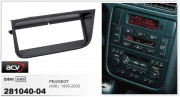 Переходная рамка ACV 281040-04 для Peugeot 406 1995-2005, 1DIN