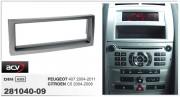 Переходная рамка ACV 281040-09 для Citroen C5, Peugeot 407, 1DIN
