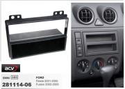 Переходная рамка ACV 281114-06 для Ford Fiesta, Fusion (2001-2005), 2DIN / 1DIN