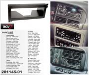 Переходная рамка ACV 281145-01 для Dodge Viper / Chrysler 300 M 9, Neon, Voyager, Grand Voyager / Jeep Grand Cherokee, 1DIN