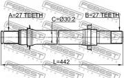 Приводной вал (полуось) FEBEST 0312-CL7ATRH