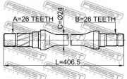 Приводной вал (полуось) FEBEST 0512-626GD