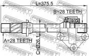 Приводной вал (полуось) FEBEST 0512-CP