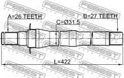Приводной вал (полуось) FEBEST 1212-IX35MT5
