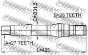 Приводной вал (полуось) FEBEST 1212-SFBM