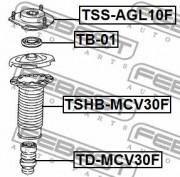Опора амортизатора FEBEST TSS-AGL10F