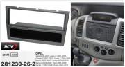 Переходная рамка ACV 281230-26-2 для Opel Agila, Astra G, Combo C, Corsa, Meriva, Omega, Signum, Tigra, Vectra C, Vivaro, 1DIN