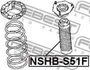 Захисний комплект амортизатора FEBEST NSHB-S51F