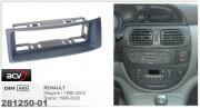 Переходная рамка ACV 281250-01 для Renault Megane I, Scenic (1996-2003), 1DIN