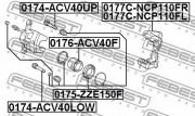 Ремкомплект суппорта FEBEST 0174-ACV40UP