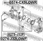 Ремкомплект супорта FEBEST 0274-J32LOWF