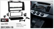 Переходная рамка ACV 281300-18 для Toyota Camry XV30 2001-2006 (USA), 1DIN