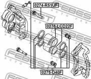 Ремкомплект суппорта FEBEST 0275-D40F