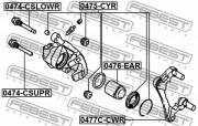 Ремкомплект суппорта FEBEST 0475-CYR