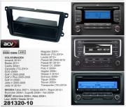 Переходная рамка ACV 281320-10 для Volkswagen, Skoda, Seat, 2DIN / 1DIN