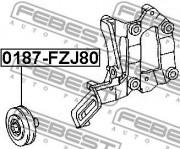 Ролик натяжителя ремня FEBEST 0187-FZJ80