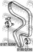 Ролик натяжителя ремня (паразитный, ведущий) FEBEST 0188-GX90
