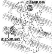 Ролик натяжителя ремня (паразитный, ведущий) FEBEST 0188-URJ200