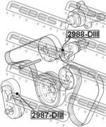 Ролик натяжителя ремня (паразитный, ведущий) FEBEST 2988-DIII