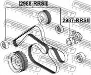 Ролик натяжителя ремня (паразитный, ведущий) FEBEST 2988-RRSII