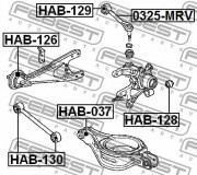 Рычаг подвески FEBEST 0325-MRV