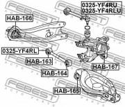 Рычаг подвески FEBEST 0325-YF4RL