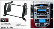 Переходная рамка ACV 381143-05 для Hyundai Santa Fe 2006-2012, 2DIN