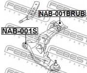 Сайлентблок рычага FEBEST NAB-001BRUB