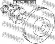 Ступица колеса FEBEST 0182-UCF30F
