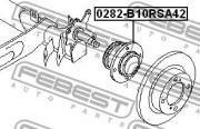 Ступица колеса FEBEST 0282-B10RSA42