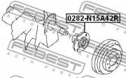 Ступица колеса FEBEST 0282-N15A42R