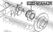 Ступица колеса FEBEST 0282-N16A42R