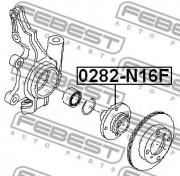 Ступица колеса FEBEST 0282-N16F