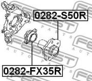 Ступица колеса FEBEST 0282-S50R