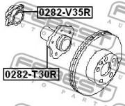 Ступица колеса FEBEST 0282-V35R