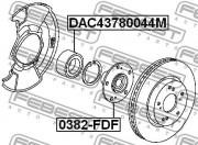 Ступица колеса FEBEST 0382-FDF