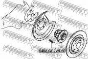 Маточина колеса FEBEST 0482-GF2WDR