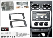 Переходная рамка ACV 391114-15-1 для Ford Focus II, C-Max, S-Max, Transit, Fusion, Fiesta, Galaxy, Kuga, 2DIN