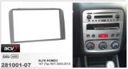 Переходная рамка ACV 281001-07 для Alfa Romeo 147 (Typ 937) 2000-2010, 2DIN