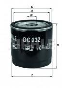 Масляный фильтр MAHLE OC232