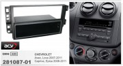 Переходная рамка ACV 281087-01 для Chevrolet Captiva, Epica (2006-2011), Aveo, Lova (2007-2011), 2DIN / 1DIN