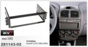 Переходная рамка ACV 281143-02 для Hyundai Accent 2003-2005, 1DIN